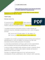 Date e Programmi Esame Bando Comune Milano