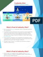 Proof of Authority (PoA)
