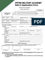 Pmaee Application Form Walk in 2017