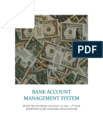 Bank Account Management System