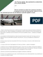 La Compagnie Aérienne Air France Alerte_ Des Sandwichs Contaminés Par La Listeria Ont Été Servis à Leurs Clients!