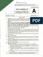 General Studies Engineering Aptitude Esep 19 0
