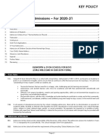 Admissions Policy 2020-2021