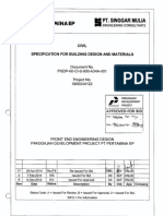 PGDP-00-CI-S-900-A34A-001 Specification for Building Design and Materials