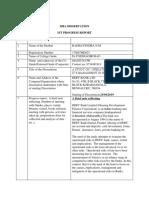 1st Progress Report RAGHVENDRA