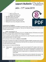 Quidos Technical Bulletin - 11th June 2019