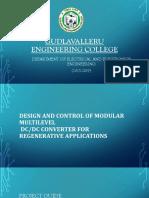 Design and Control of Modular Multilevel