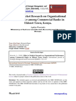 Effect of Market Research on Organizational Performance Among Commercial Banks in Eldoret Town
