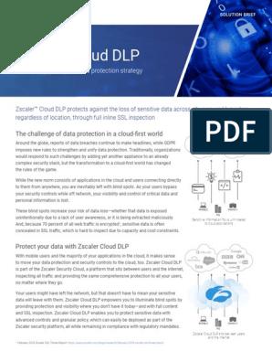 Zscaler Cloud Dlp   Cloud Computing   Cyberspace