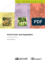 Codex for Fruits and Vegetables