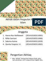 Akhlak Dalam Pergaulan Menurut Islam Edit2