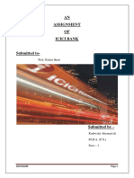 3Project Report on ICICI Bank