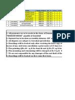 Cost Sheet II