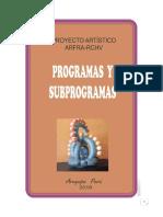 Programas y Subprogramas ARFRA-RCHV