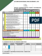 Esquemas Sugeridos Para Planificación Curricular 2019 Secundaria