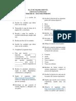 Plan de Mejoramiento Ciencias n.