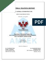 Amtek Training Report 3 New