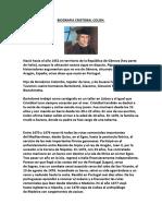 Biografia Cristobal Colon