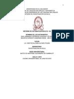 Informe Sistematizacion Semana 15 y 16