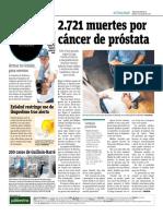 2721 Muertes Por Causa de Cáncer de Próstata