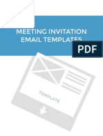 Templates for Meeting Invitation Emails