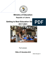 Getting to Best Education Sector Plan 2017-2021. Liberia