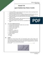 Laporan Praktikum Modul Medan Magnet Induksi Dan Motor Listrik