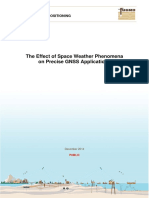 Effect of Space Weather Phenomena on Precise GNSS Applications