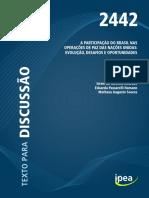 IPEA_A PARTICIPAÇÃO DO BRASIL NAS OPERAÇÕES DE PAZ DAS NAÇÕES UNIDAS EVOLUÇÃO, DESAFIOS E OPORTUNIDADEStd_2442.pdf