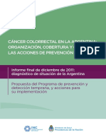 0000001001cnt 2017-09-08 Diagnostico Situacional Cancer Colorrectal Argentina