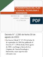 ELEMENTOS FUNDAMENTALES DEL PLAN NACIONAL DE CIENCIA, TECNOLOGIA E INNOVACION.pptx