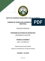 Pea Mtto Indust Mayo - Octubre Nueva c 2019