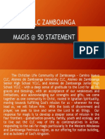 Clc Zambo Magis @ 50 Statement