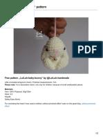 Luiluh Handmade de LuiLuh Baby Bunny Pattern