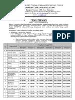Pengumuman Verifikasi & Ukt Snmptn 2019