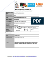 Application Form (Sine Kabataan)
