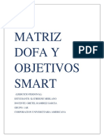 Matriz Dofa y Objetivos Smart