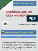 Exposicion de La División de Analisis Para El Sabado 9-2-19