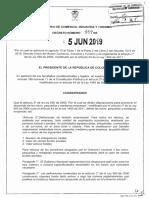 Decreto 957 Del 05 de Junio de 2019 Art. 2 Ley 590-2000