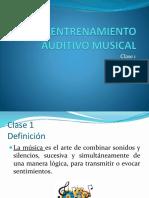 Clase 1 EAM (Entrenamiento audiotivo musical)