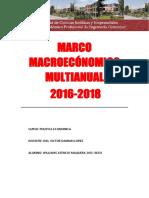 Marco Macroeconomico Multianual