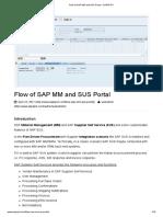 Flow of Sap Mm and Sus Portal - Sapspot
