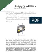 Analisis de Vibraciones Norma ISO 9000 La Calibracion Supera La Ficcion