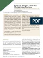 Análisis de la Satisfacción y el Desempeño Laboral en los Funcionarios de la Municipalidad de Talcahuano