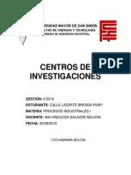 Centros de Investigacion CON INDICE 2
