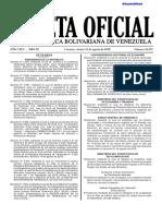 Gaceta Oficial 41.472 Exoneracion IVA