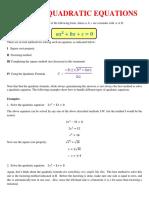 Quadratic Eq Ns
