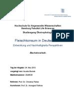 Fleischkonsum in Deutschland Entwicklung und Nachhaltigkeits-Perspektiven - 2015