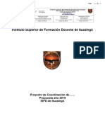 Formato Coordinador de Carrera 2019