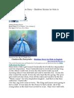 Cinderella Fairytale Story